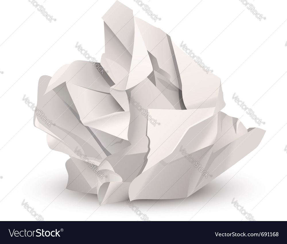 Crumpled paper ball vector | Price: 3 Credit (USD $3)