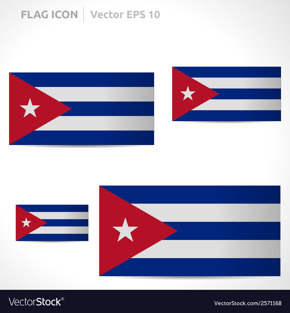 Cuba flag template vector | Price: 1 Credit (USD $1)