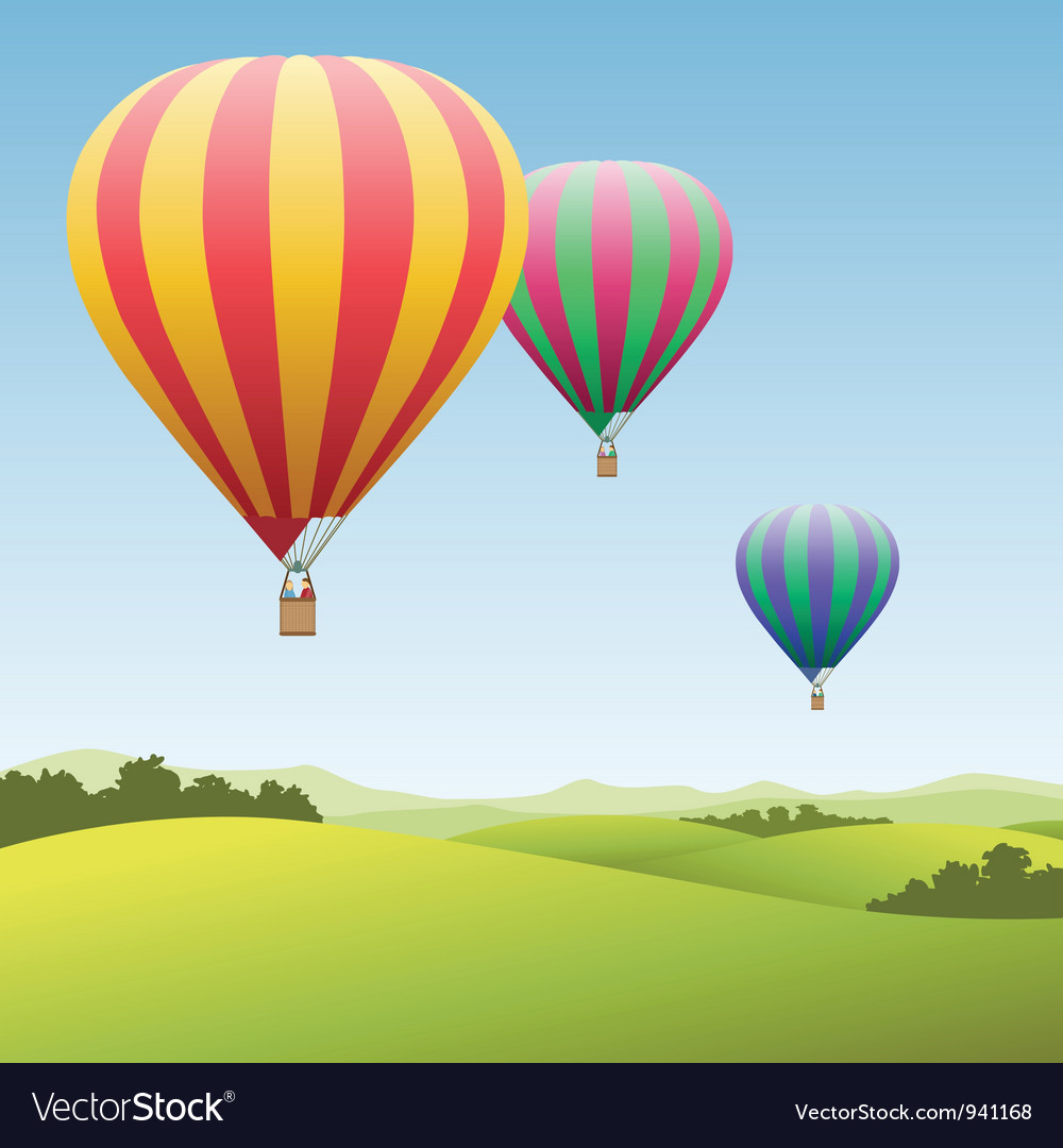 Hot air balloons vector | Price: 1 Credit (USD $1)