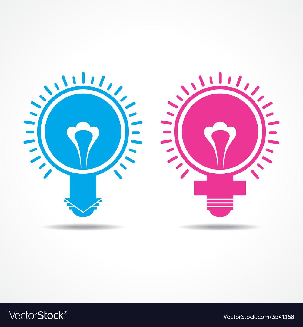 Male female symbol make light bulb vector | Price: 1 Credit (USD $1)