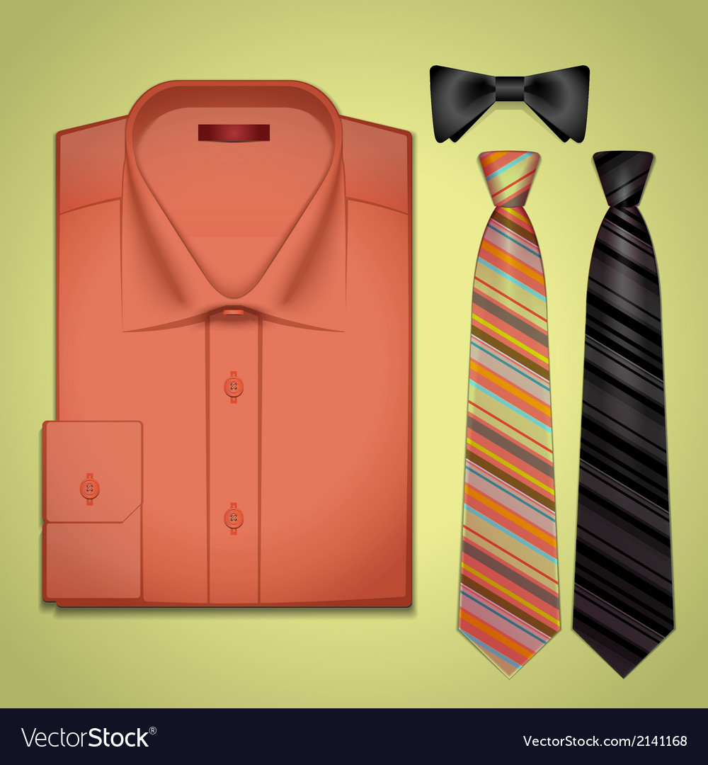 Red shirt with a tie vector | Price: 1 Credit (USD $1)