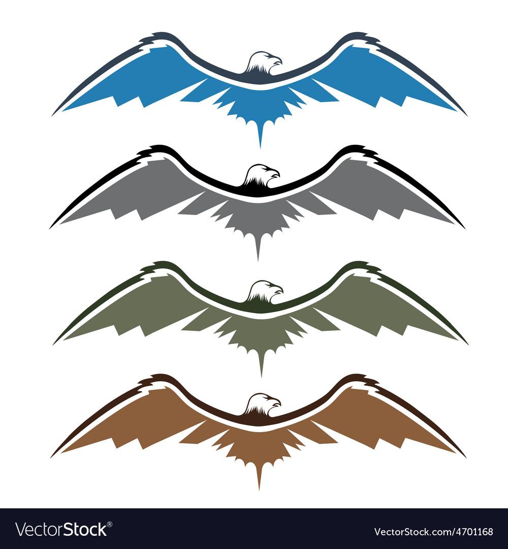Set of native american eagles vector | Price: 1 Credit (USD $1)