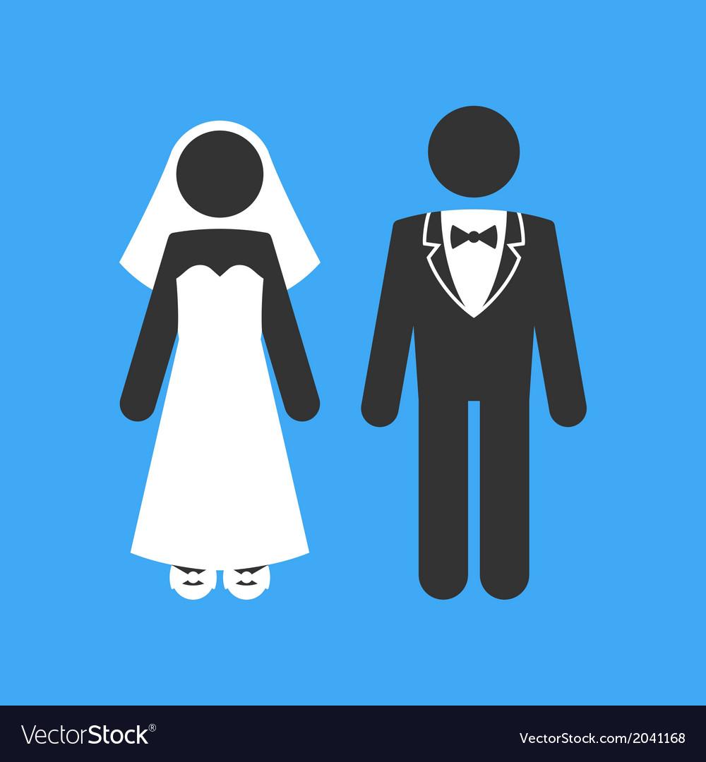 Wedding couple marriage invitation template vector | Price: 1 Credit (USD $1)
