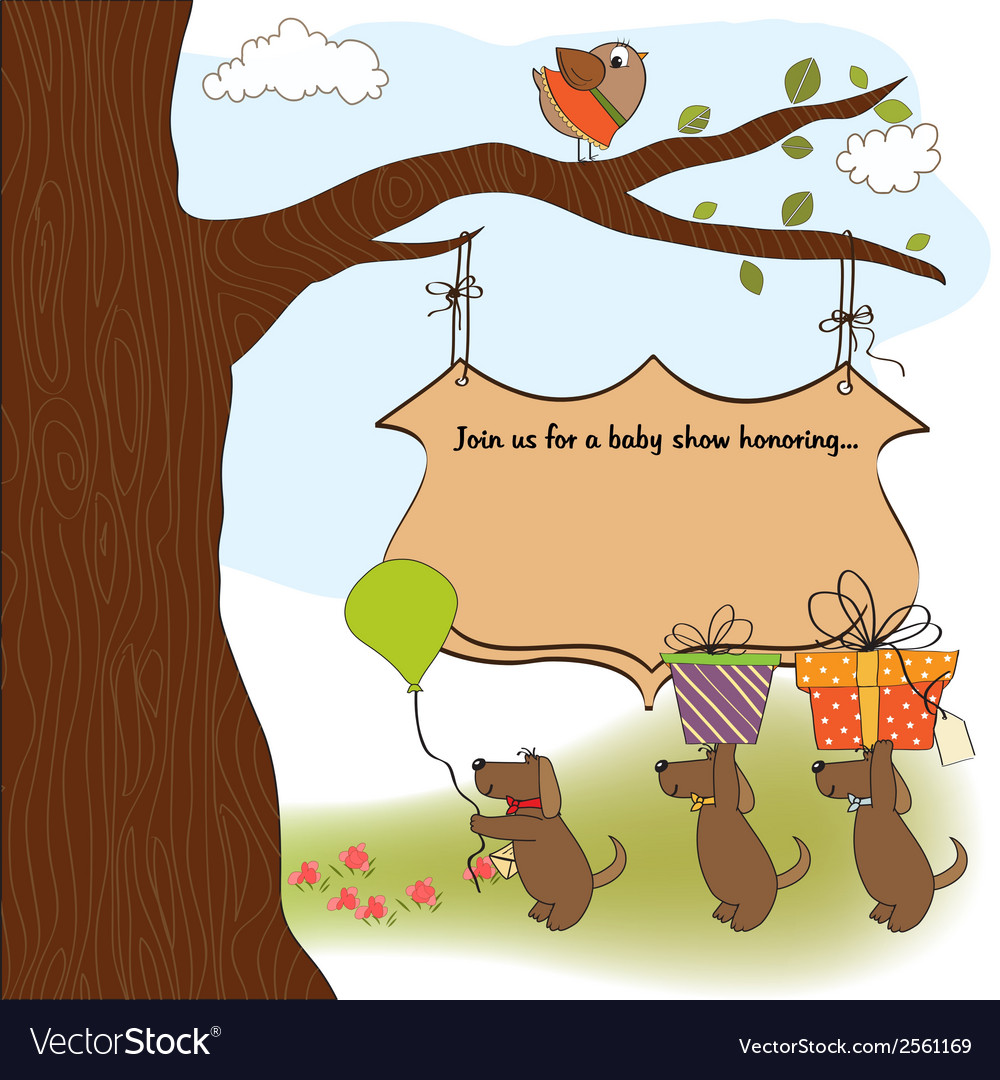 Baby shower announcement card vector | Price: 1 Credit (USD $1)