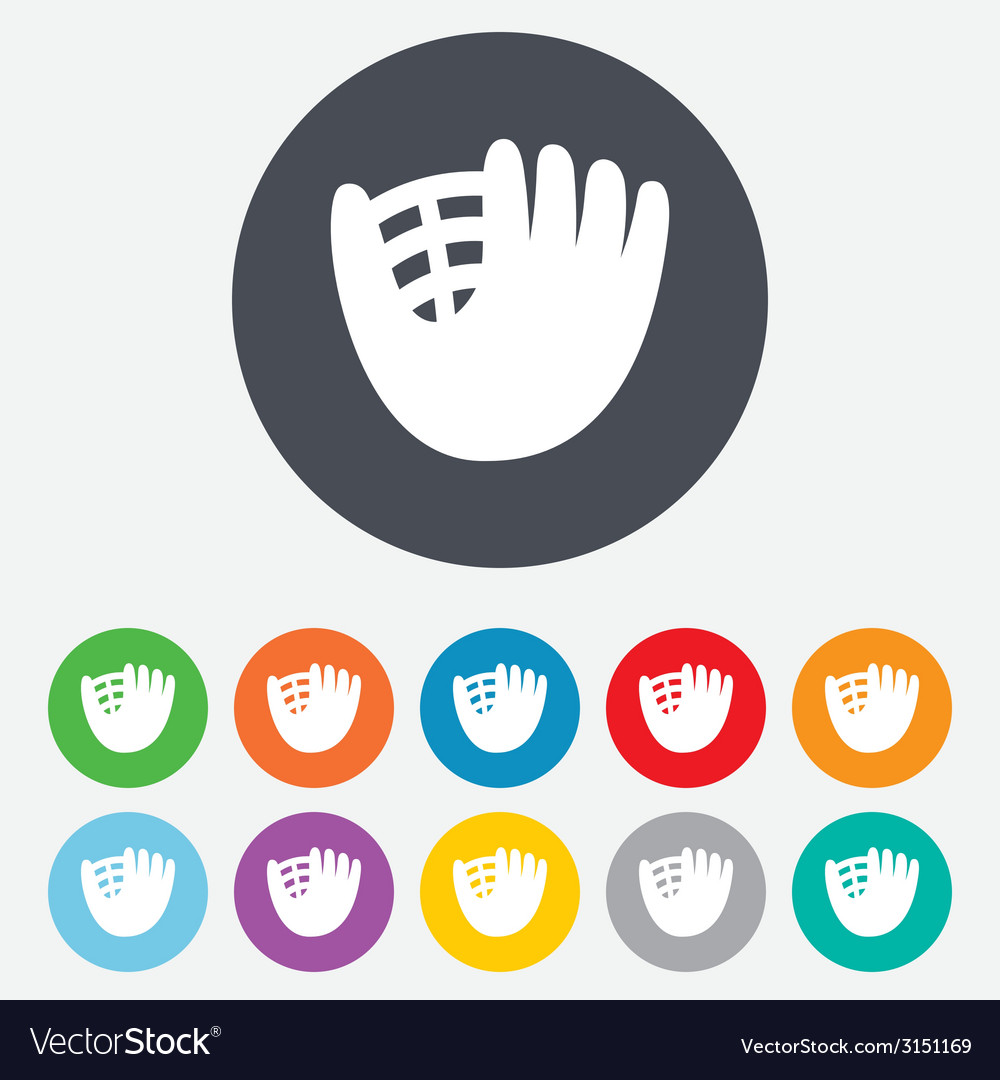 Baseball glove sign icon sport symbol vector | Price: 1 Credit (USD $1)