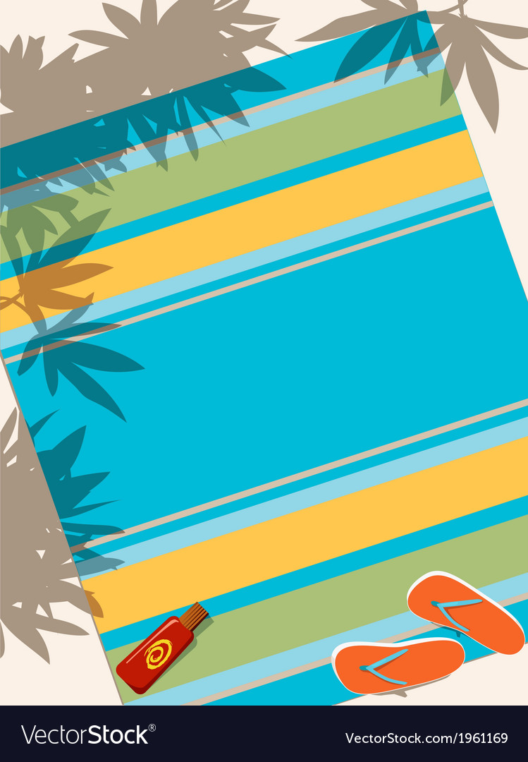 Beach towel vector | Price: 1 Credit (USD $1)