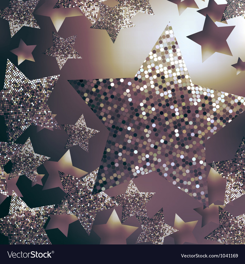 Christmas stars background vector | Price: 1 Credit (USD $1)