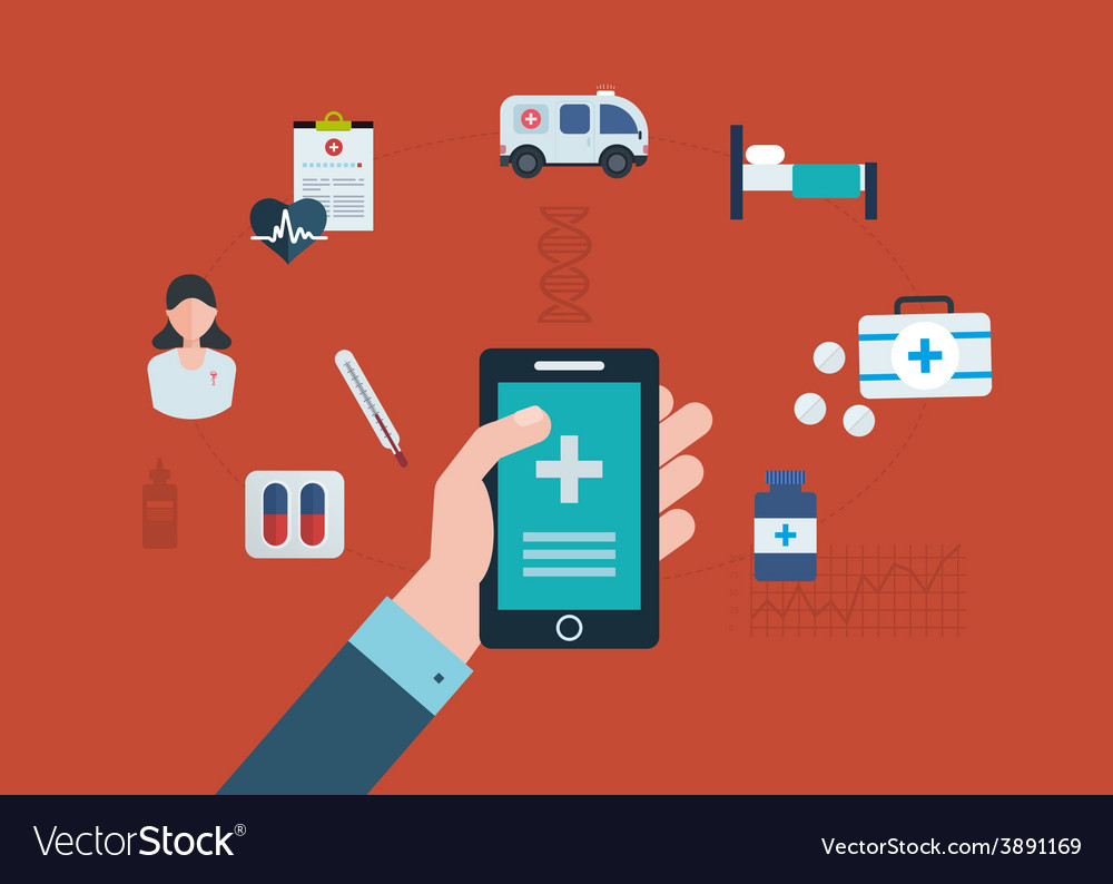 Concept for medical care vector | Price: 1 Credit (USD $1)