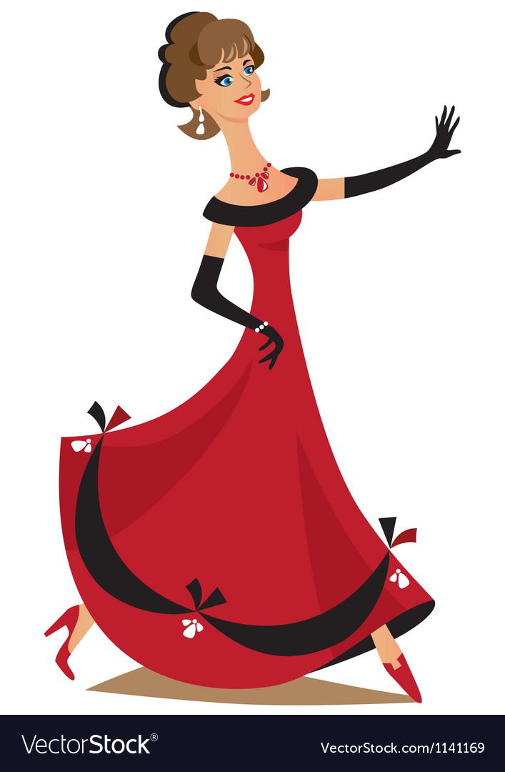 Dancing lady vector | Price: 3 Credit (USD $3)