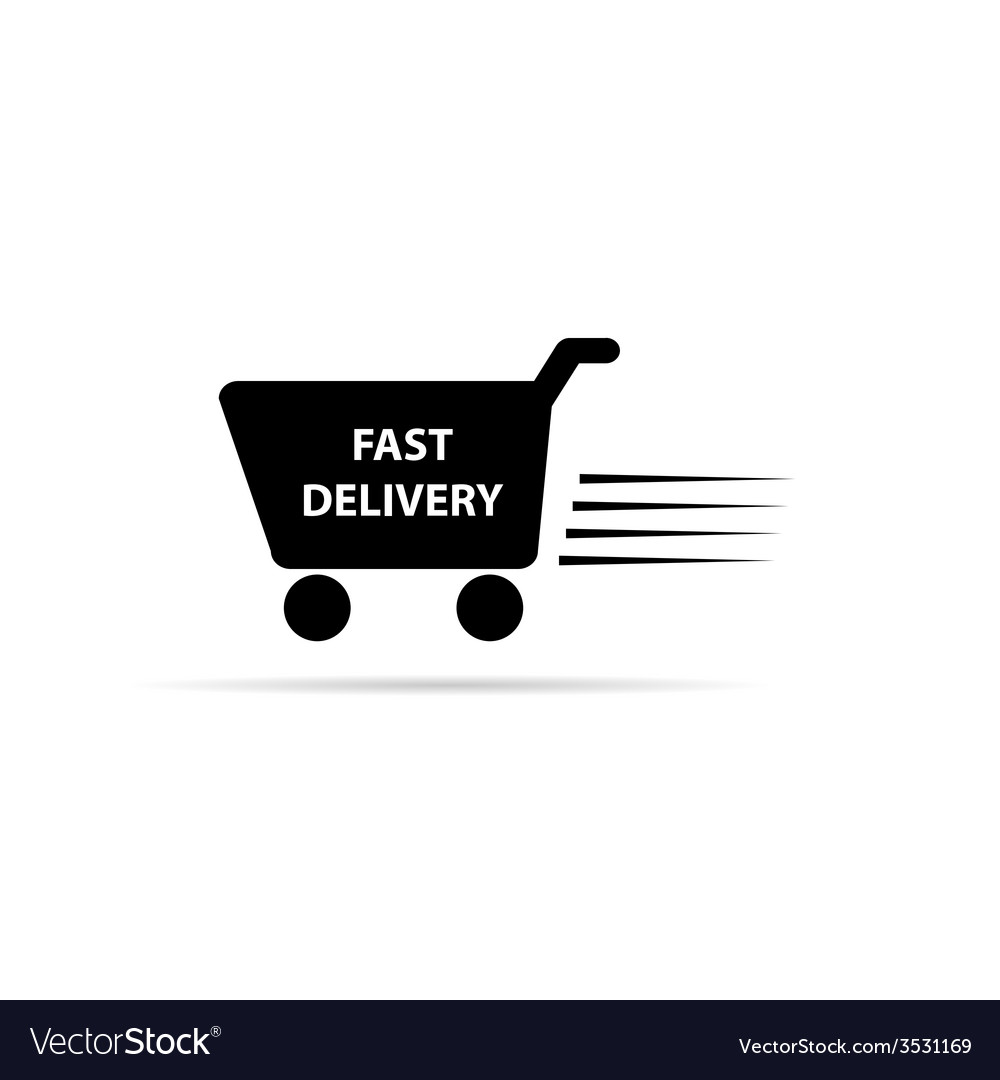 Fast delivery black and white vector | Price: 1 Credit (USD $1)