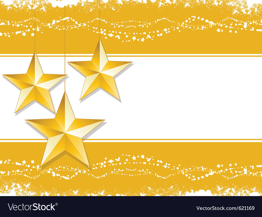 Gold christmas stars vector | Price: 1 Credit (USD $1)