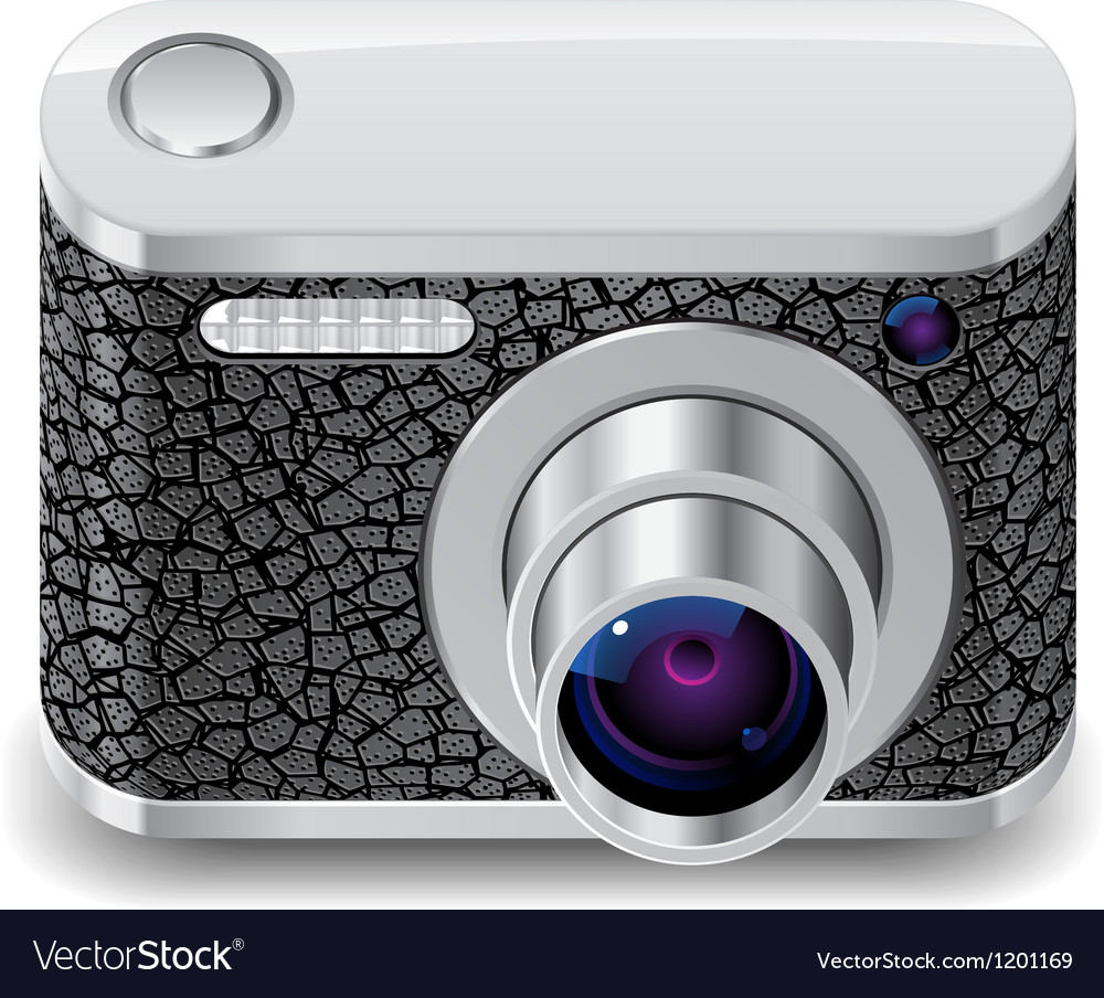 Icon for compact photo camera vector | Price: 3 Credit (USD $3)