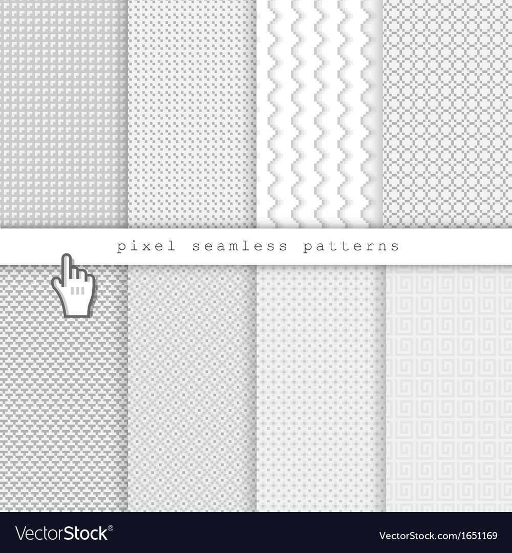 Light pixel seamless patterns vector | Price: 1 Credit (USD $1)