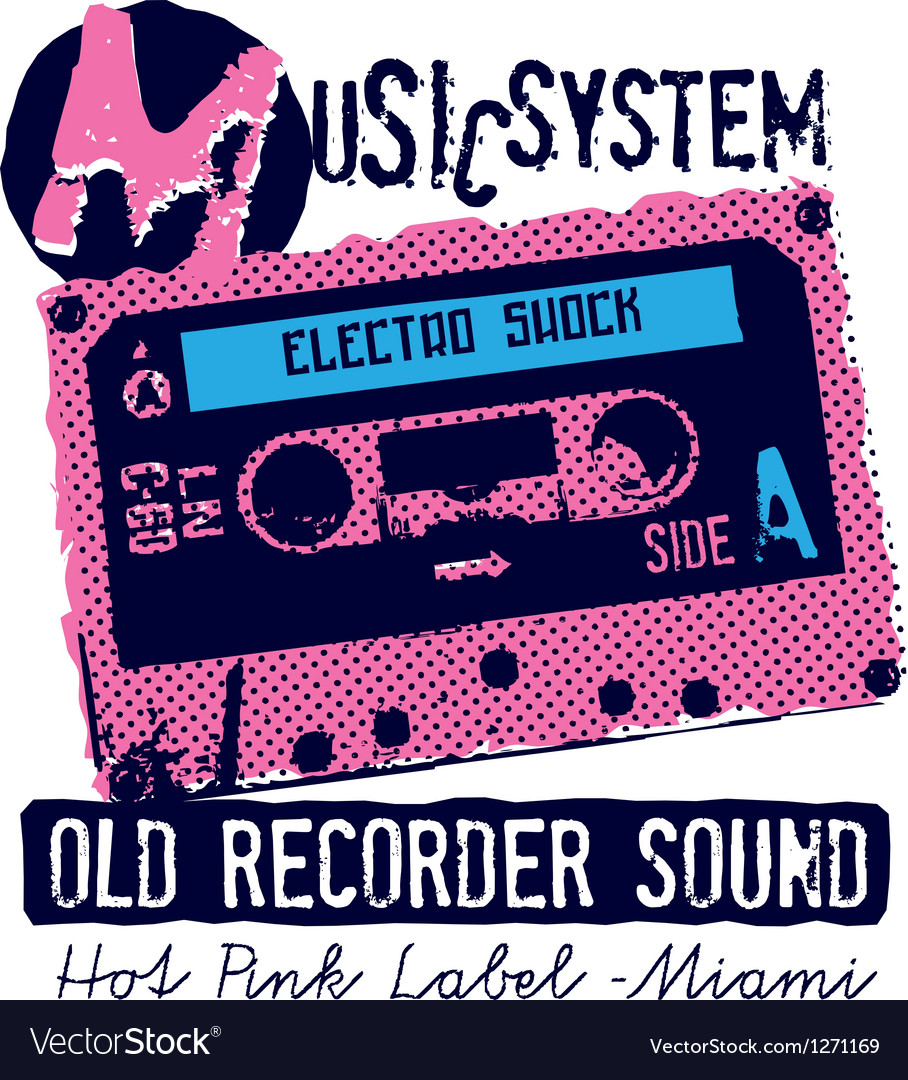 Music system vector | Price: 1 Credit (USD $1)