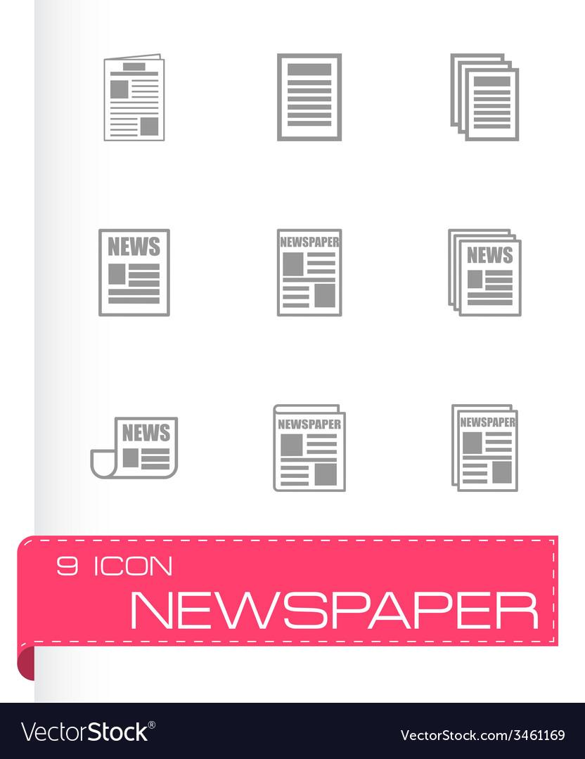 Newspaper icon set vector   Price: 1 Credit (USD $1)