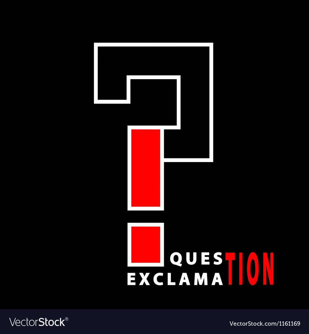 Question and exclamation vector | Price: 1 Credit (USD $1)
