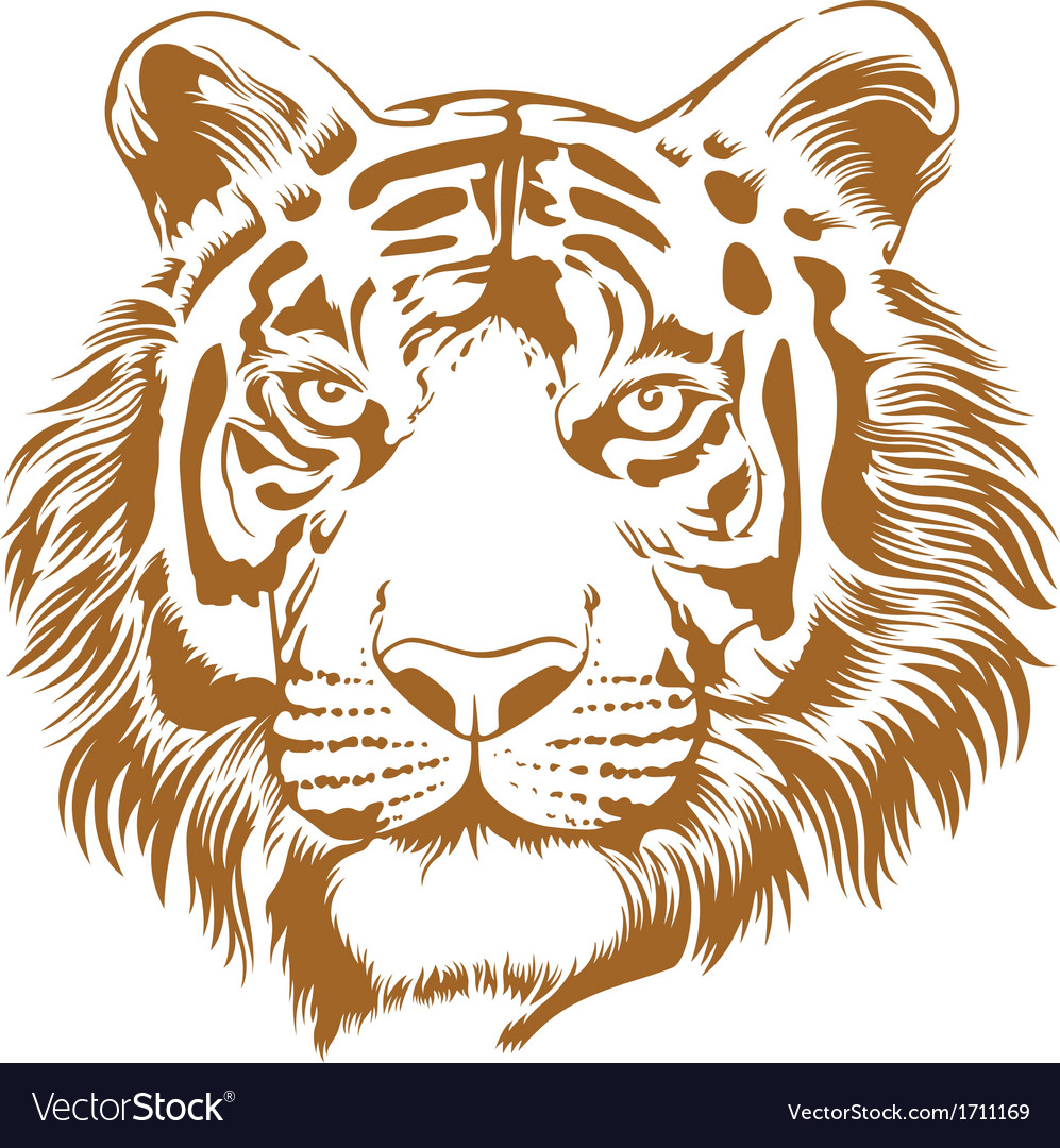 Tiger stencil vector | Price: 1 Credit (USD $1)