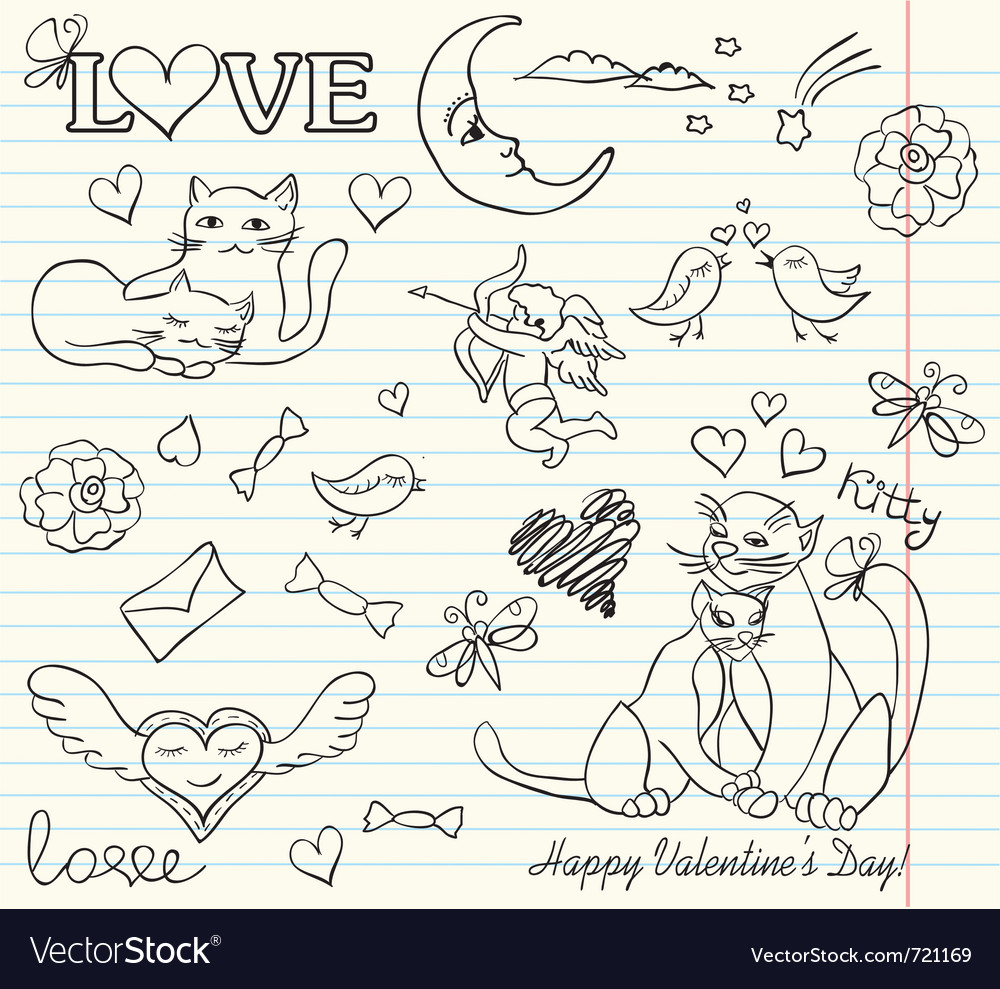 Valentine sketch vector | Price: 1 Credit (USD $1)