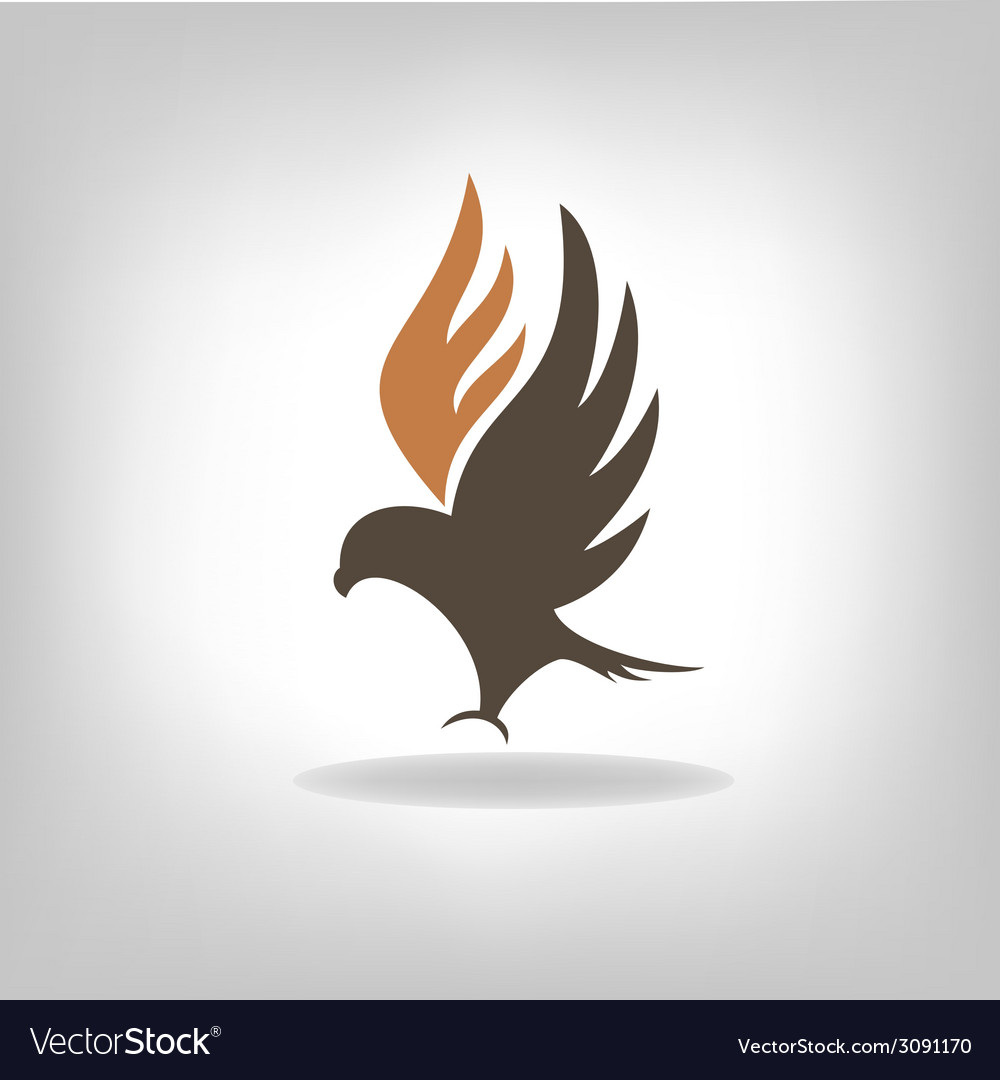 Black eagle with expanded wings vector | Price: 1 Credit (USD $1)