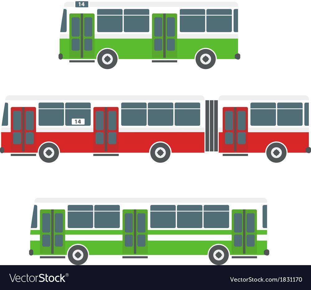 Bus set vector | Price: 1 Credit (USD $1)