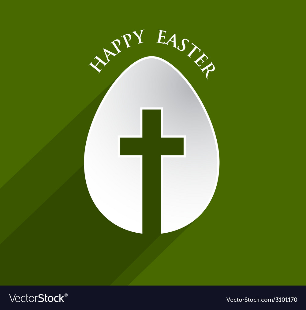 Cross easter egg vector | Price: 1 Credit (USD $1)