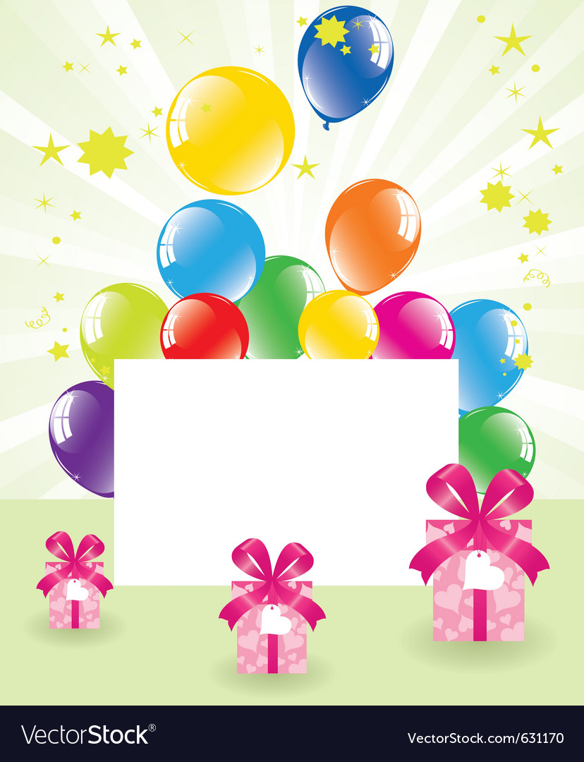 Festive balloons and gift boxes vector | Price: 1 Credit (USD $1)