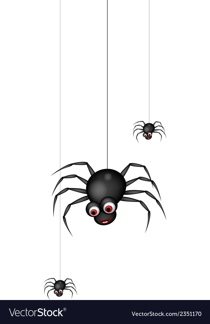 Funny spider cartoon family vector | Price: 1 Credit (USD $1)