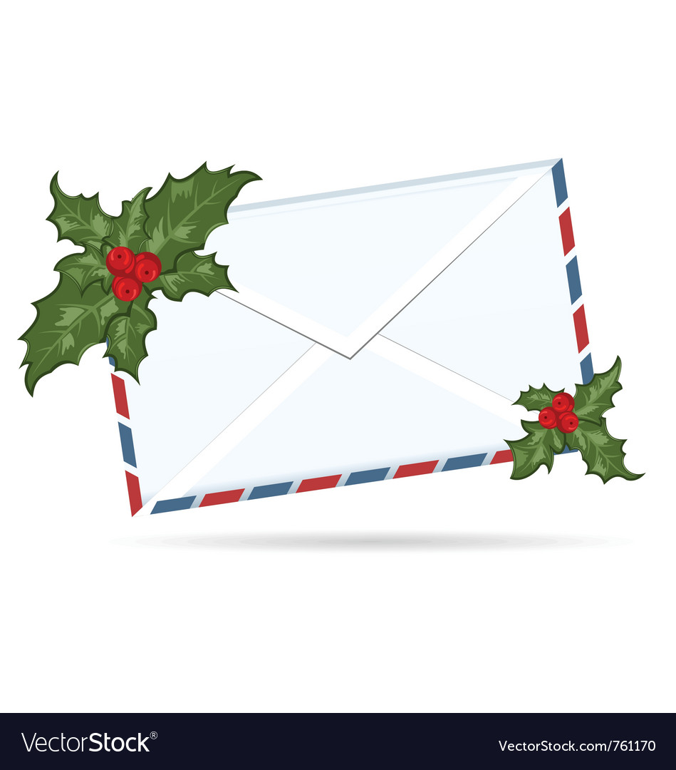 Gift letter with christmas berry - vector | Price: 1 Credit (USD $1)