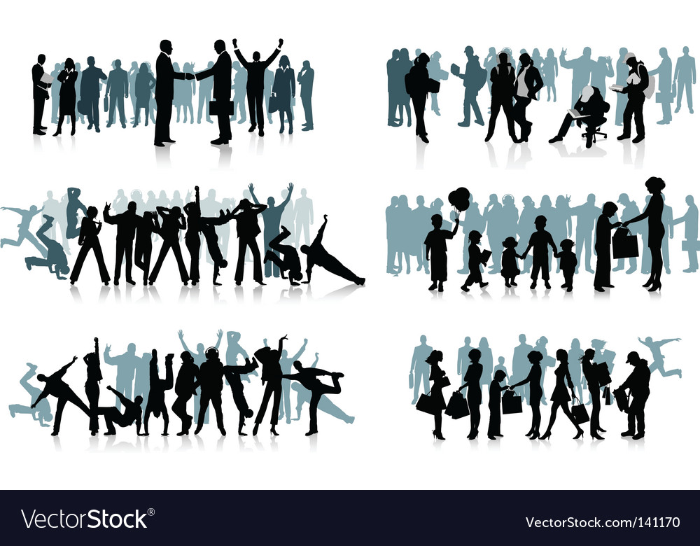 Huge crowd vector | Price: 1 Credit (USD $1)