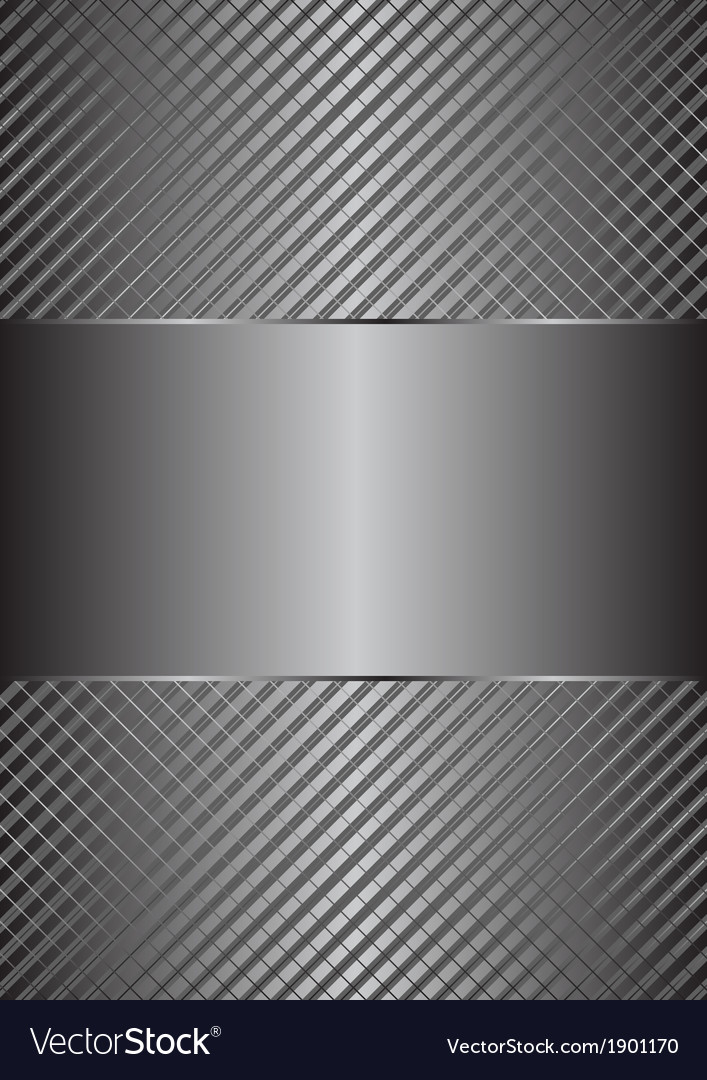 Matallic background vector