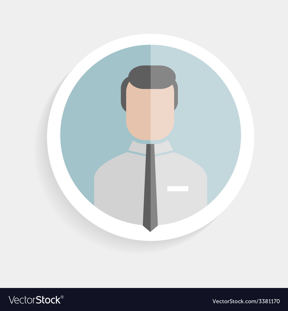 Round icon successful man vector | Price: 1 Credit (USD $1)