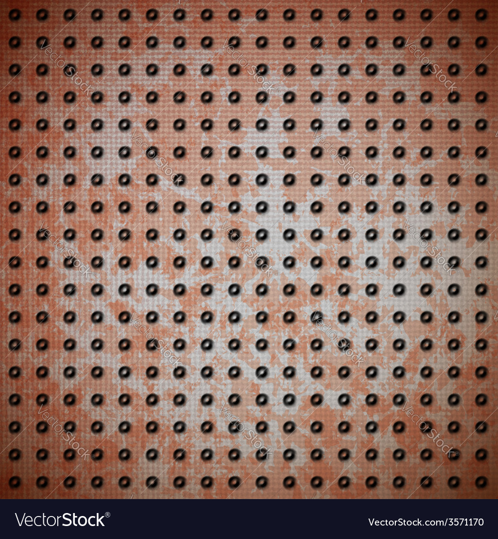 Rusty metal with rivet grid vector | Price: 1 Credit (USD $1)