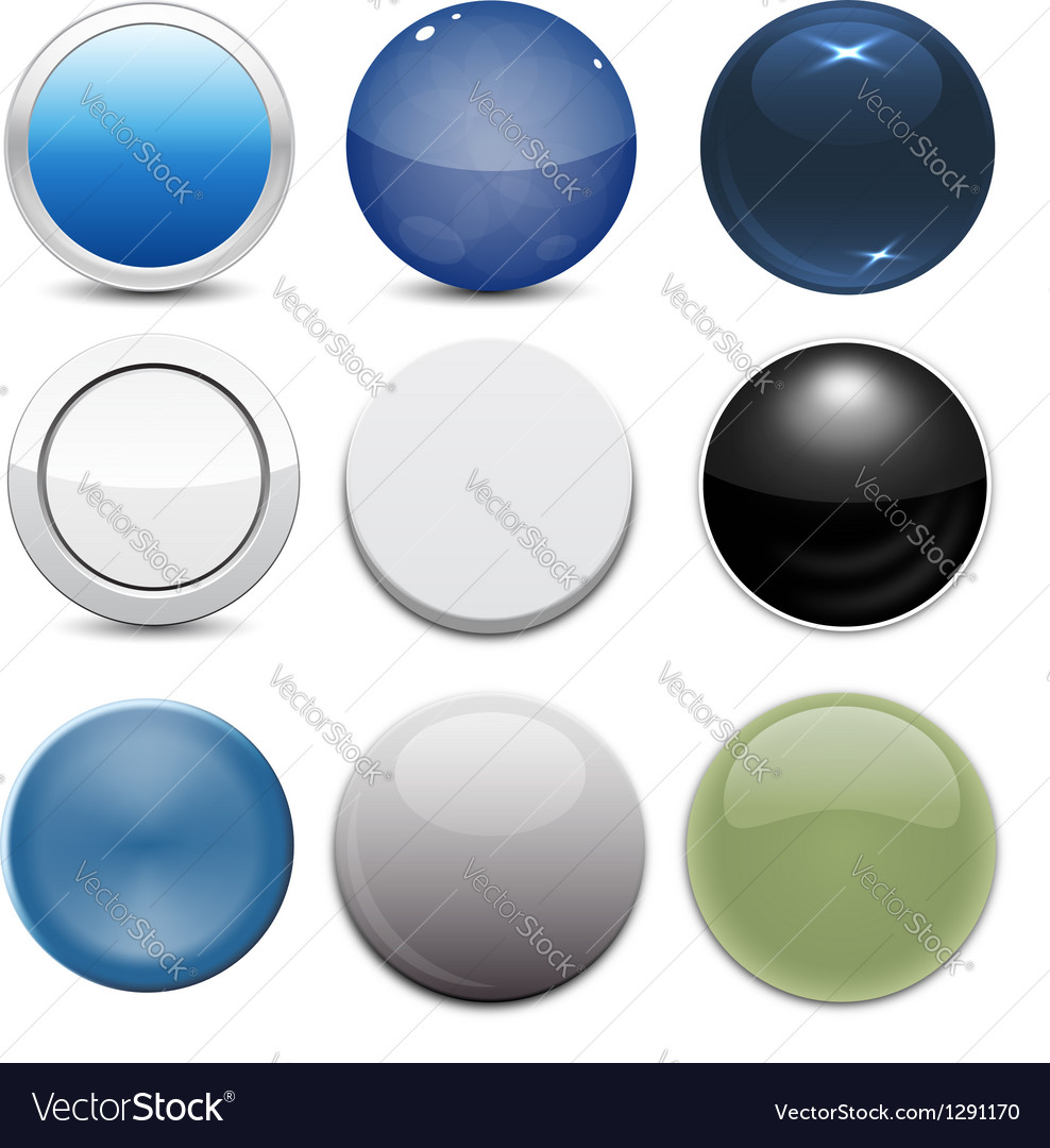 Set of 9 button styles vector | Price: 1 Credit (USD $1)
