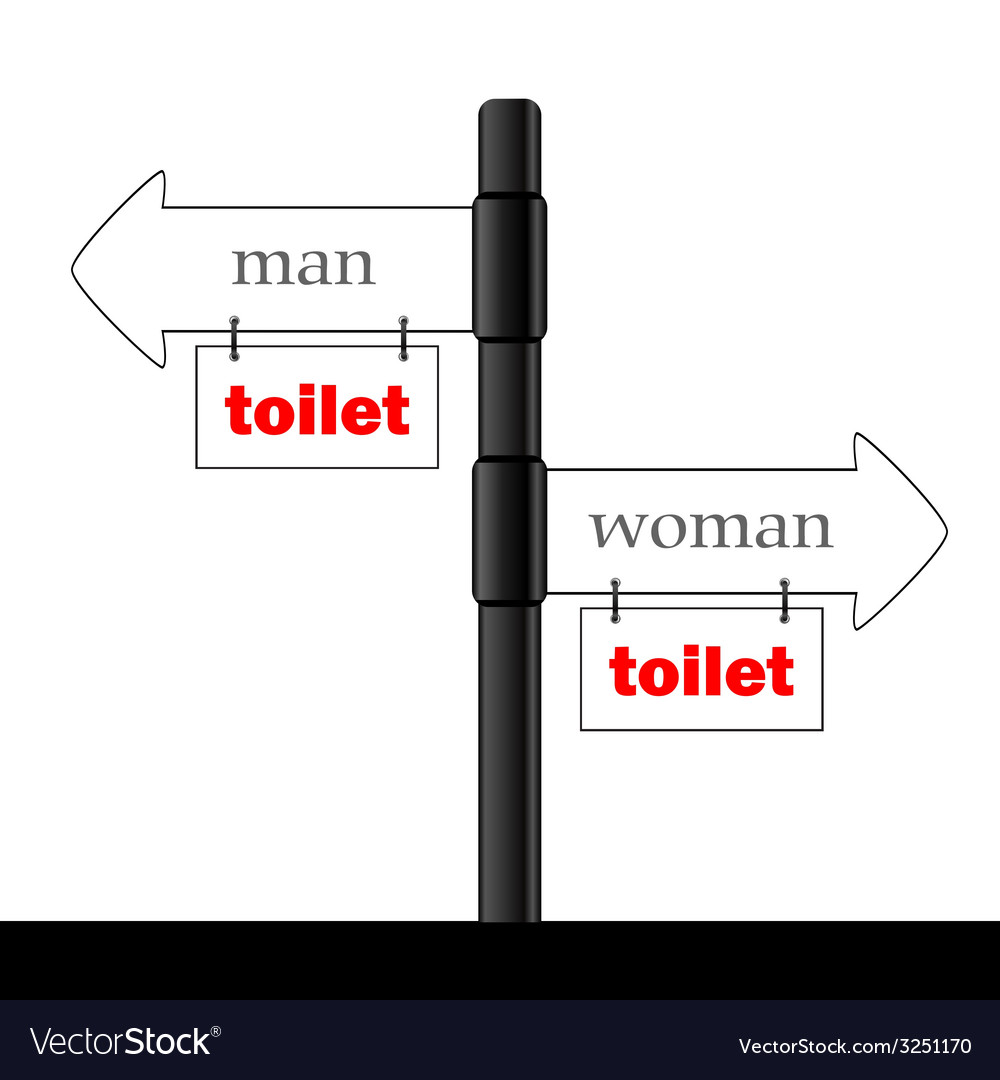 Sign and guideline for toilet part two vector | Price: 1 Credit (USD $1)