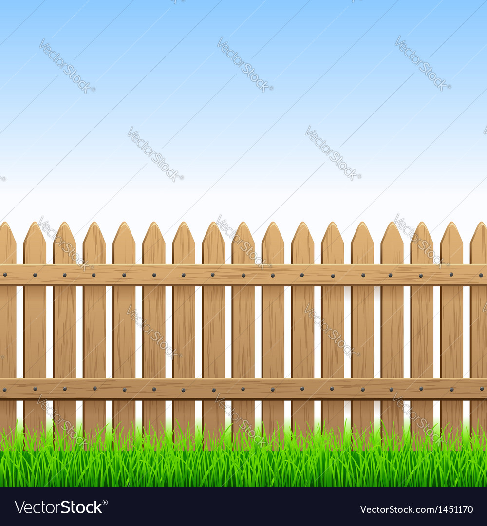 Wood fence vector | Price: 1 Credit (USD $1)