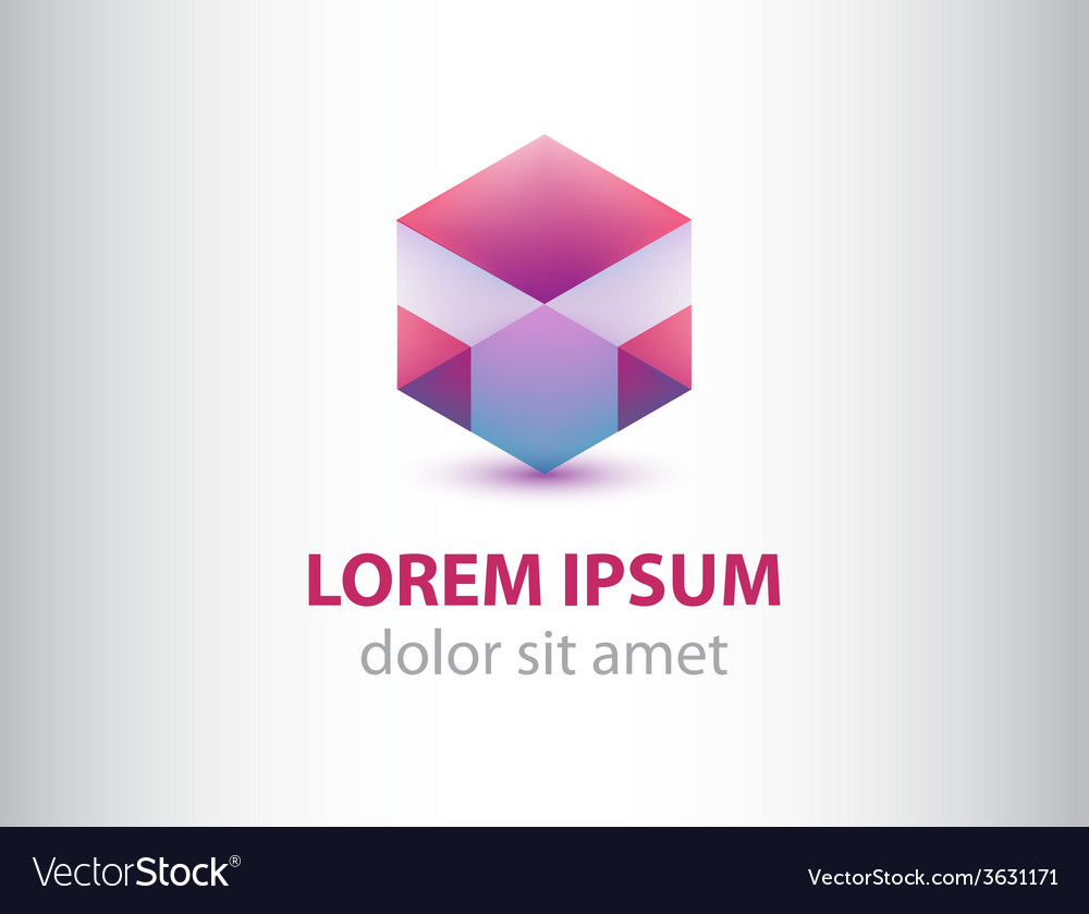 Abstract geometric crystal logo for company vector | Price: 1 Credit (USD $1)