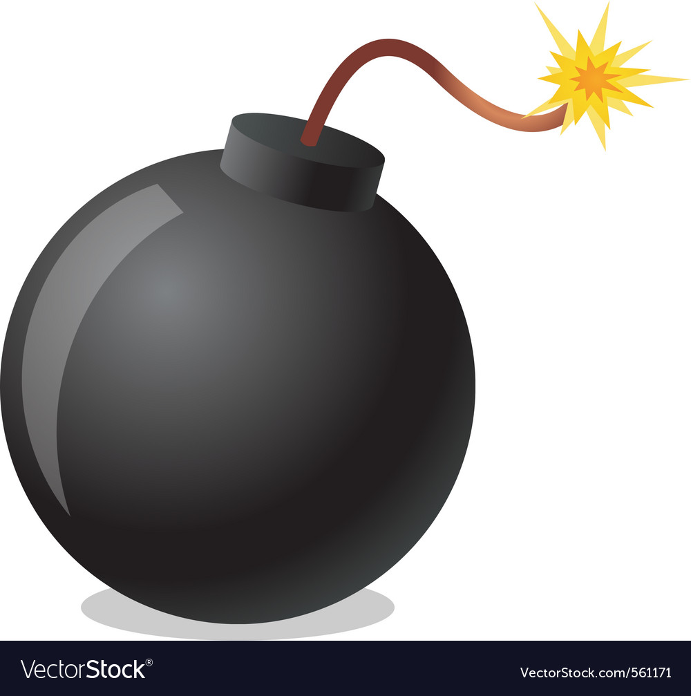 Bomb cartoon vector | Price: 1 Credit (USD $1)