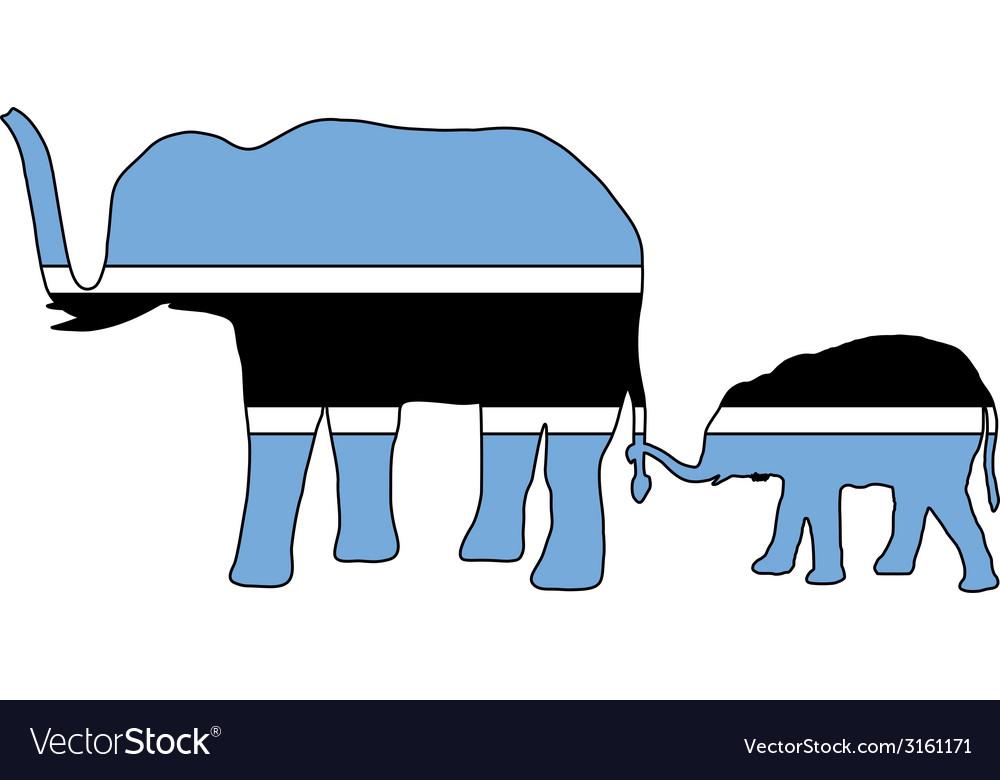 Botswana elephants vector   Price: 1 Credit (USD $1)