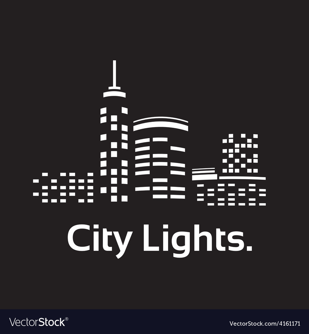 City lights vector | Price: 1 Credit (USD $1)