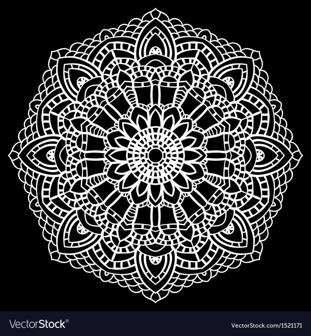Crochet lace mandala vector | Price: 1 Credit (USD $1)