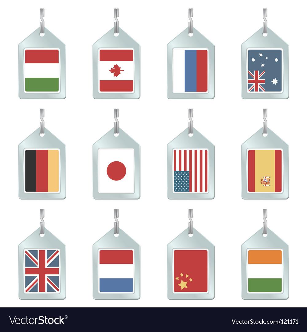 Flag key fobs vector   Price: 1 Credit (USD $1)