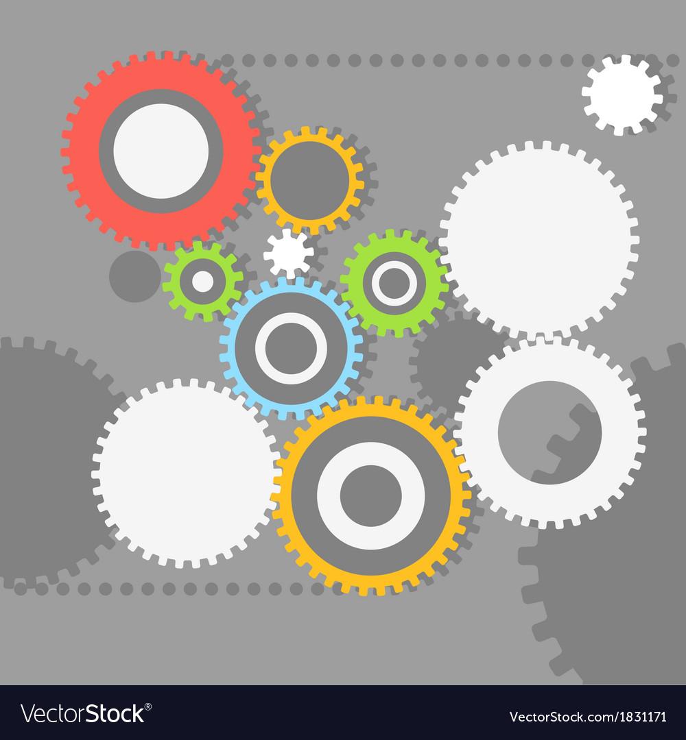 Gear wheels vector | Price: 1 Credit (USD $1)