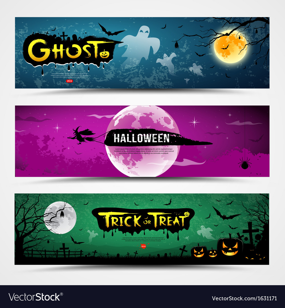 Happy halloween banners collections vector | Price: 3 Credit (USD $3)