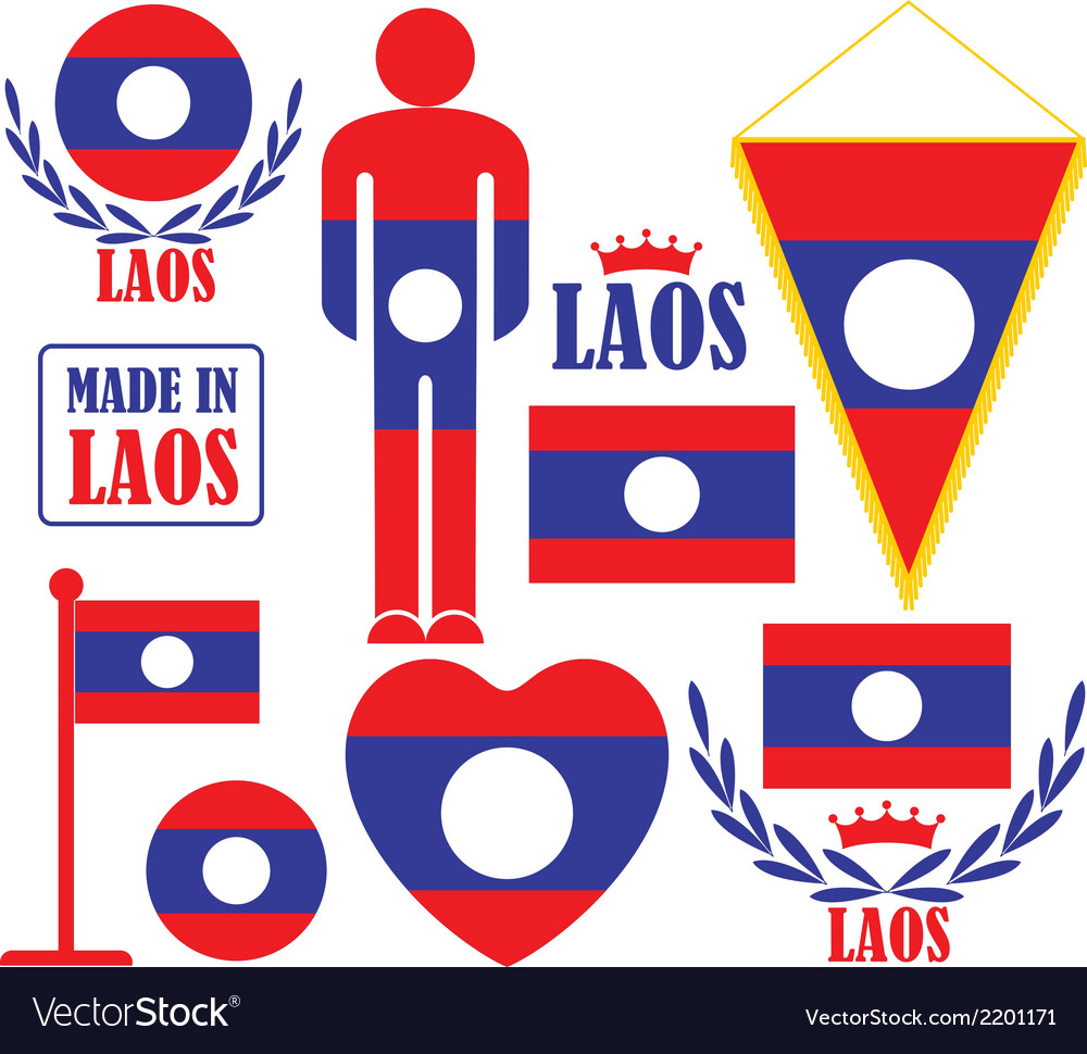 Laos vector | Price: 1 Credit (USD $1)