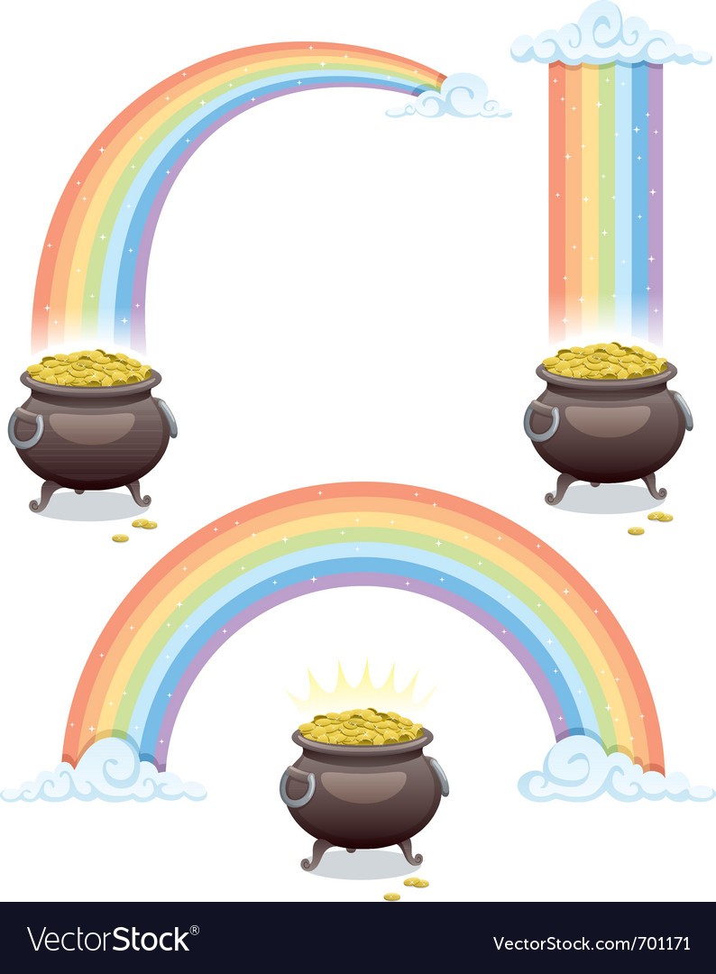 Pot and rainbow vector | Price: 1 Credit (USD $1)