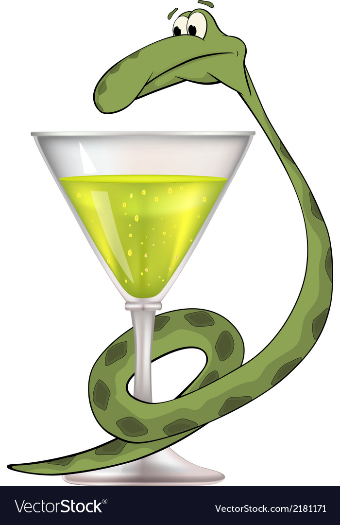 Snake and a bowl bowl of hygieia medical cartoon vector | Price: 1 Credit (USD $1)