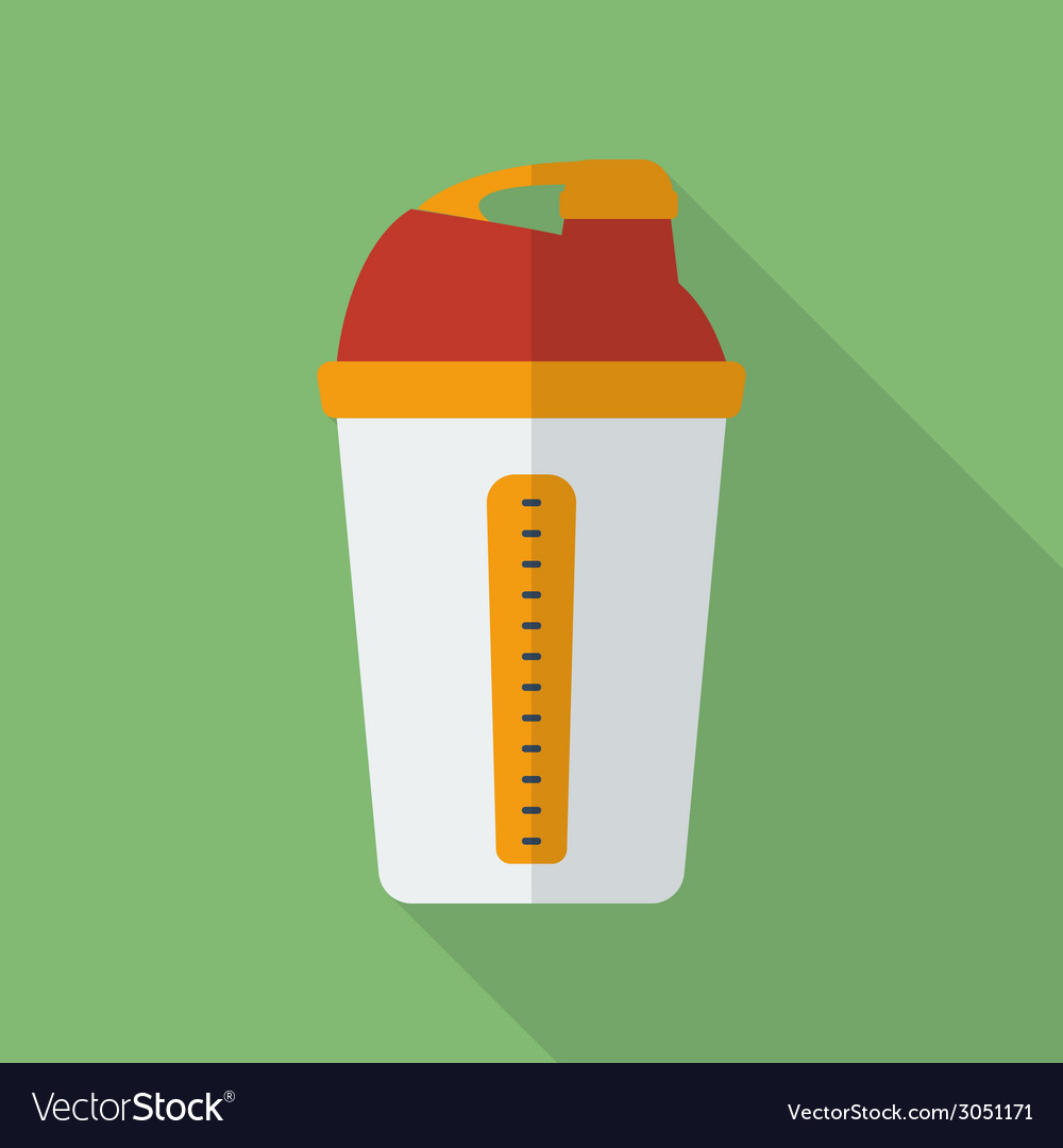 Sport shaker icon modern flat style with a long vector | Price: 1 Credit (USD $1)