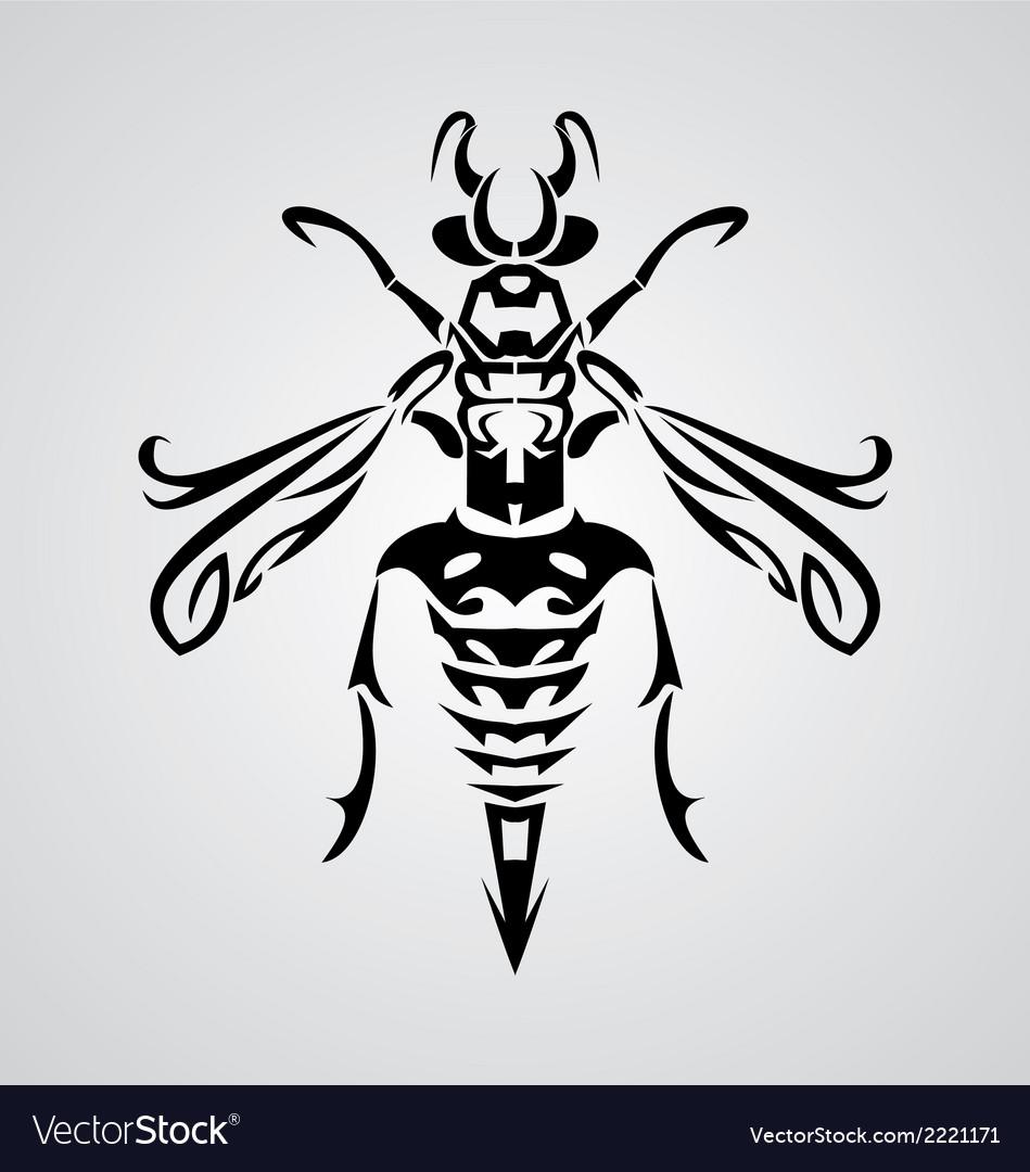 Tribal bee vector | Price: 1 Credit (USD $1)