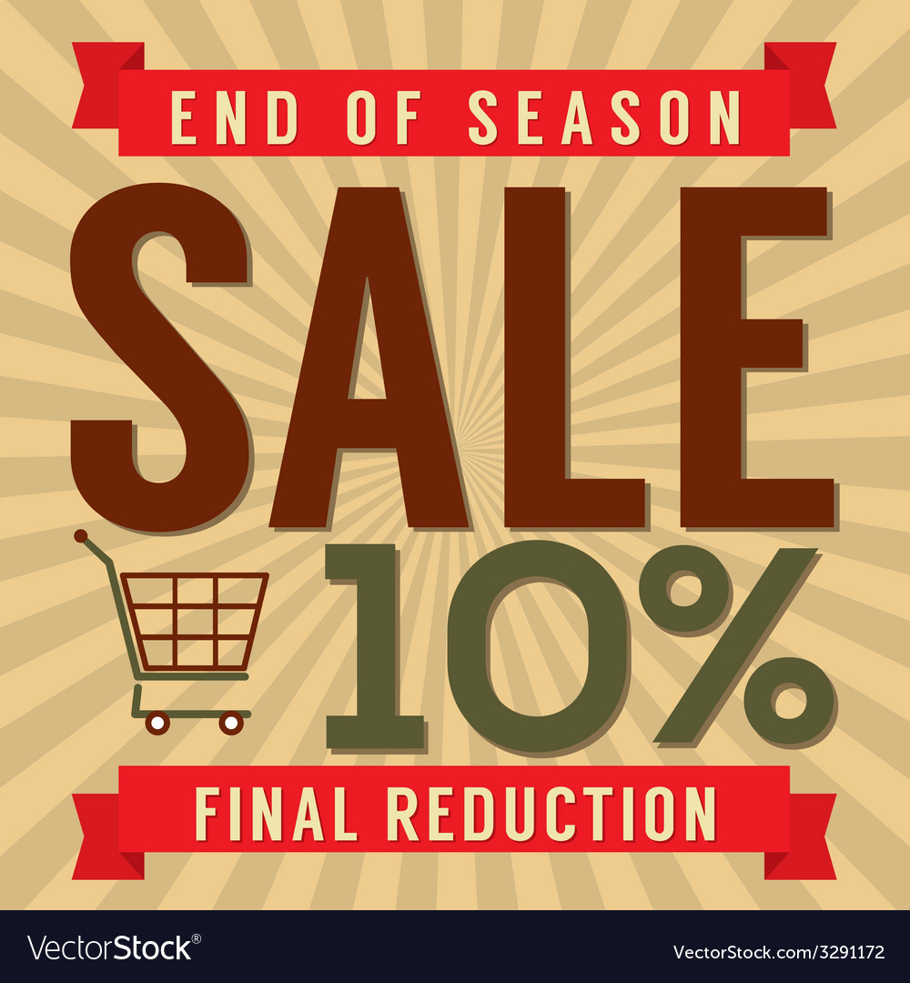 10 percent end of season sale vector | Price: 1 Credit (USD $1)