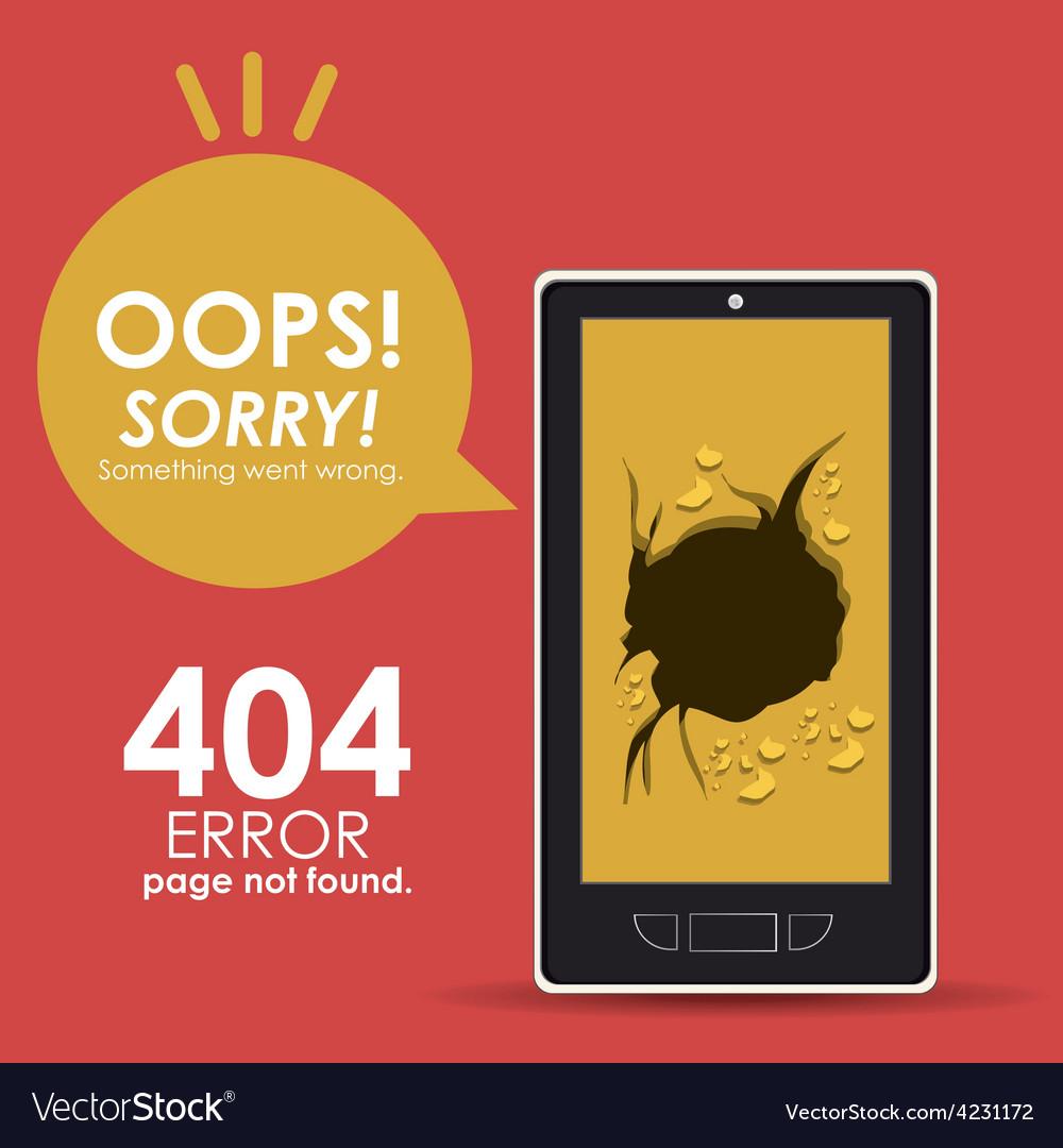 Error design vector | Price: 1 Credit (USD $1)